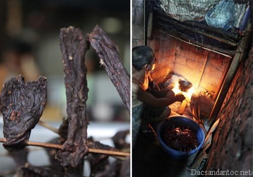 ngot bui thit trau gac bep - Vị khói trong mâm cơm Tết người miền núi
