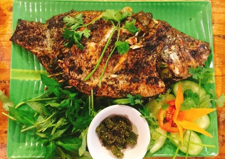 ca ro phi nuong mac khen tay bac - Cách làm cá nướng mắc khén đậm chất ẩm thực Tây Bắc