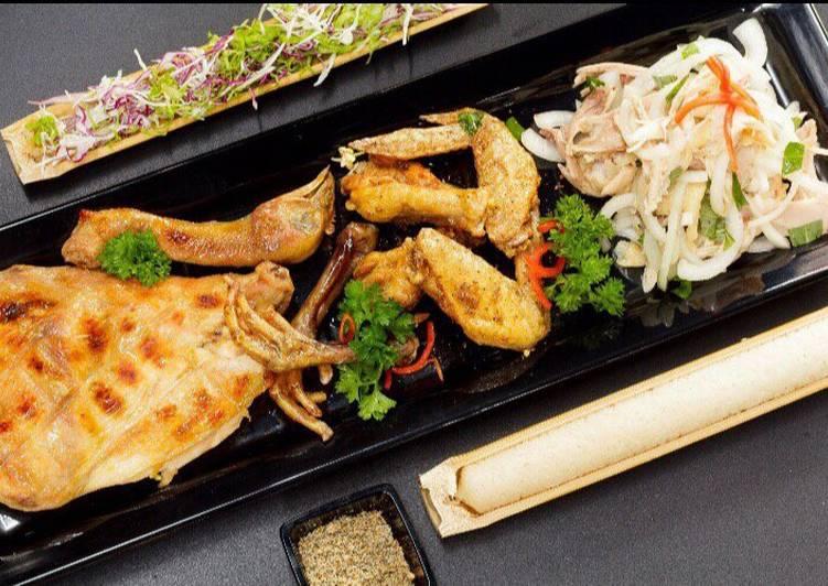 ga nuong tay bac com lam - Thịt ba rọi một nắng nướng chấm chẩm chéo