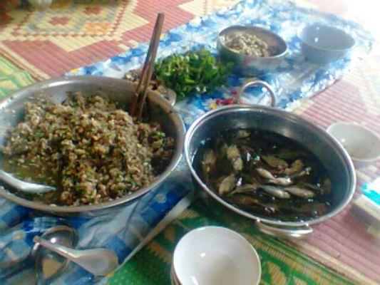 Cá nhảy là món ăn phổ biến tại các gia đình người Thái ở Sơn La.