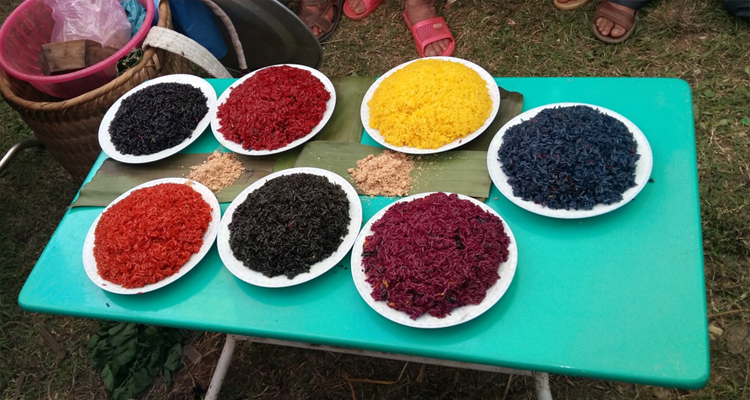 Đặc sản Lào Cai - xôi bảy màu