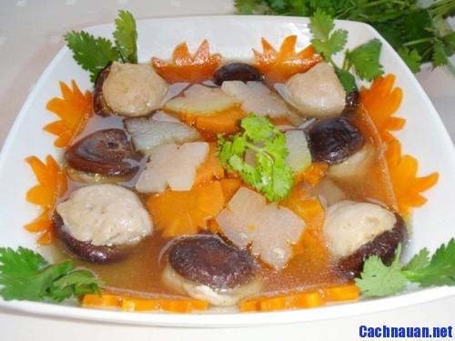 cach nau mon canh moc nam huong - Cách làm món vịt xiên nướng Tây Bắc thơm mùi mắc khén